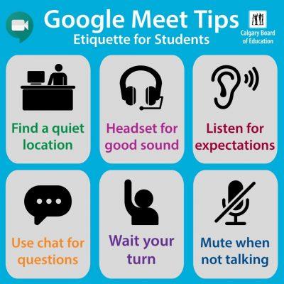 Google Meet Etiquette